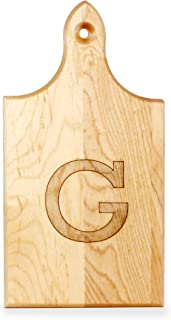 product image for J.K. Adams Q-Tee Cut-Up Sugar Maple Wood Cutting Board, 7-1/2-inches by 4-inches, Alphabet Series, G