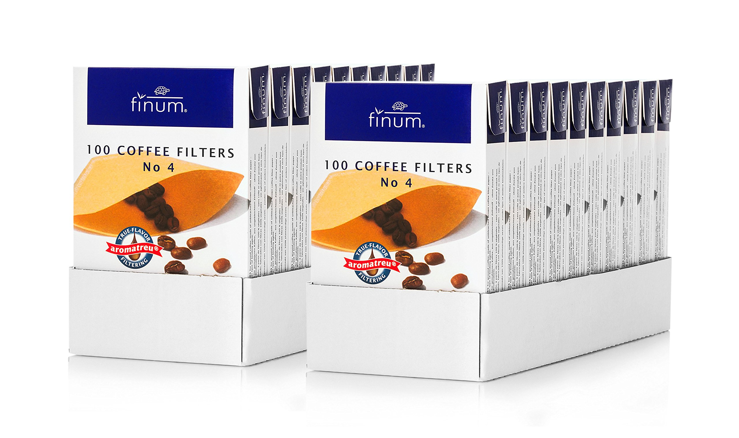 100 Coffee Filters No 4 (2 trays of 10 units)