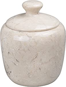 Creative Home Champagne Marble Boulder Collection Cotton Ball Holder