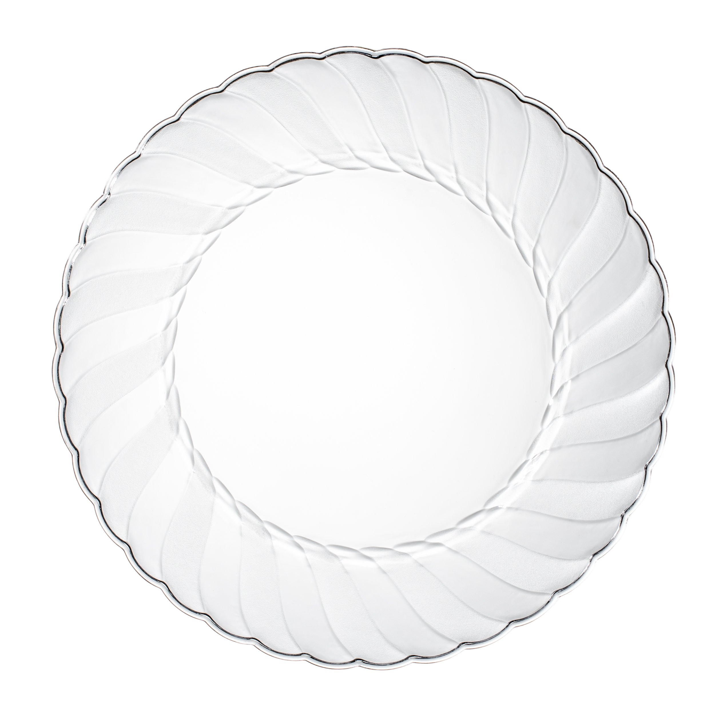 Premium Clear Plastic Plates By Alpha & Sigma - 50pcs 9'' Food Grade Clear Plastic Plates - Washable & Reusable - Perfect For Birthdays, Parties, Celebrations, Picnics, Buffets, Catering & More by Alpha & Sigma