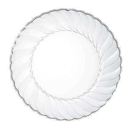 Premium Clear Plastic Plates By Alpha u0026 Sigma - 50pcs 9u0026quot; Food Grade Clear Plastic  sc 1 st  Amazon.com & Amazon.com: Premium Clear Plastic Plates By Alpha u0026 Sigma - 50pcs 9 ...