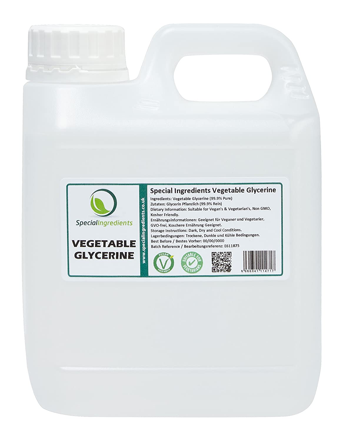 Special Ingredients Vegetable Glycerine/Glycerol 1 Litre Premium Quality  Clear Pharma Food Grade, Non GMO