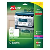 Avery Durable ID Labels, Permanent Adhesive, 2 x