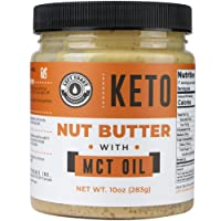 Keto Nut Butter Fat Bomb [Crunchy] - 10 Oz - Macadamia Low Carb Nut Butter Blend...