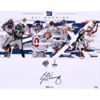 """$134 » Eli Manning New York Giants Autographed 16"""" x 20"""" Super Bowl Plays Collage Photograph - Fanatics Authentic Certified"""