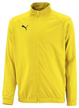 PUMA Liga Sideline Poly Jacket Core Jr Chaqueta De Entrenamiento, Niños, Cyber Yellow Black