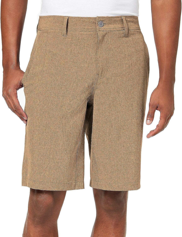 "32 DEGREES Men's Flat Front Stretch Woven 9"" Shorts, Khaki"