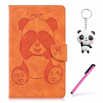 Funda Amazon Kindle Paperwhite 1 2 3 naranja Panda tímido PU ...