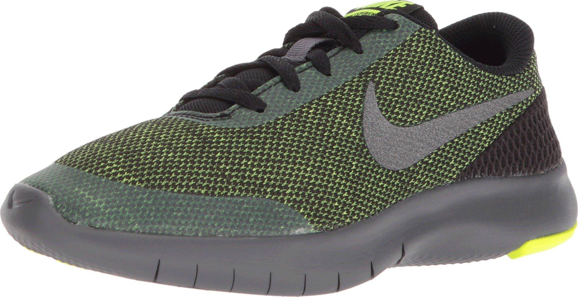 Nike Kids Flex Experience RN 7 (GS) Running Shoes (3.5 Big Kid M, Black/Metallic Dark Grey/Volt/Dark Grey)