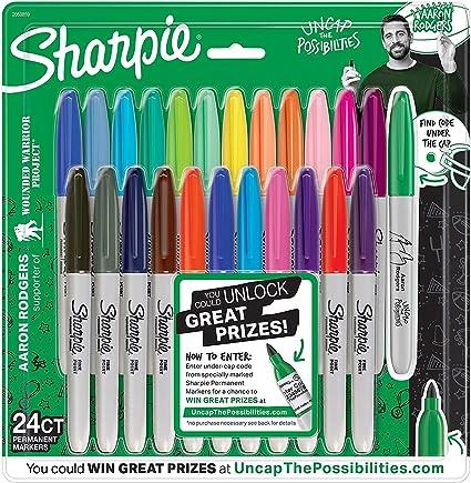 Sharpie 1927350 Fine Electro Pop marcador, punta fina, colores ...