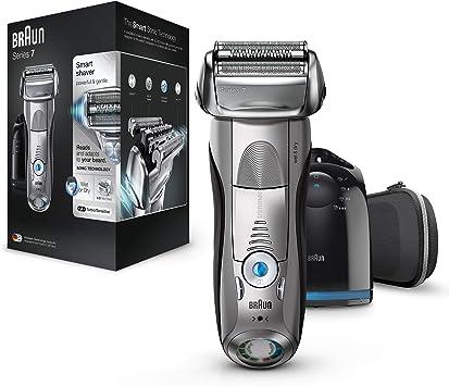 Braun Series 7 7898 cc - Afeitadora eléctrica para hombre de lámina , en seco y mojado, máquina de afeitar barba con estación de limpieza Clean & Charge: Amazon.es ...