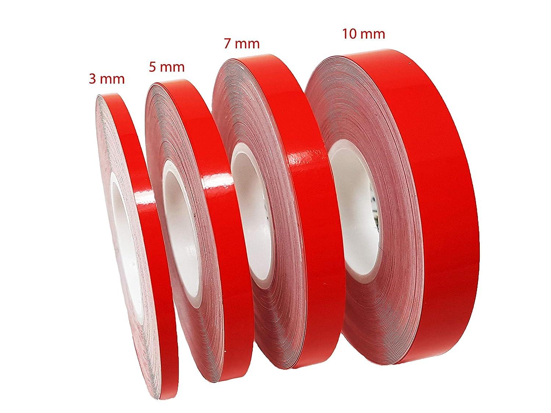10 Metri x 7 Mm Quattroerre 10014 Strisce Adesive Rotolo Rosso