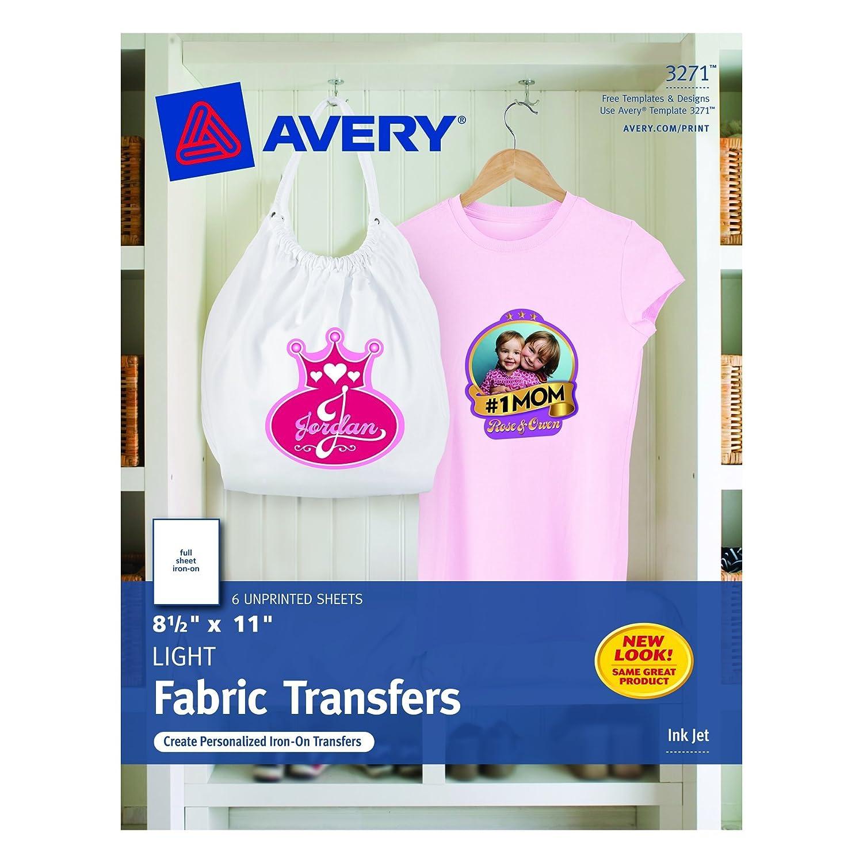 amazon com avery t shirt transfers for inkjet printers 8 5 x 11