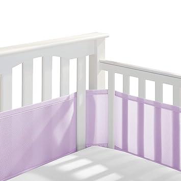 Amazon.com: Forro de malla transpirable para cuna de bebé ...