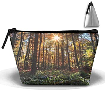 98d541467e10 Amazon.com : Earth Forest Makeup Bag/Travel Cosmetic Bags/Toilet Bag ...