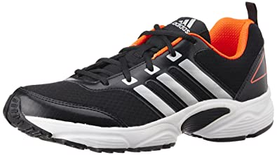 adidas Men's Ermis M Black, Silver and Solar Red Running Shoes (7 UK/