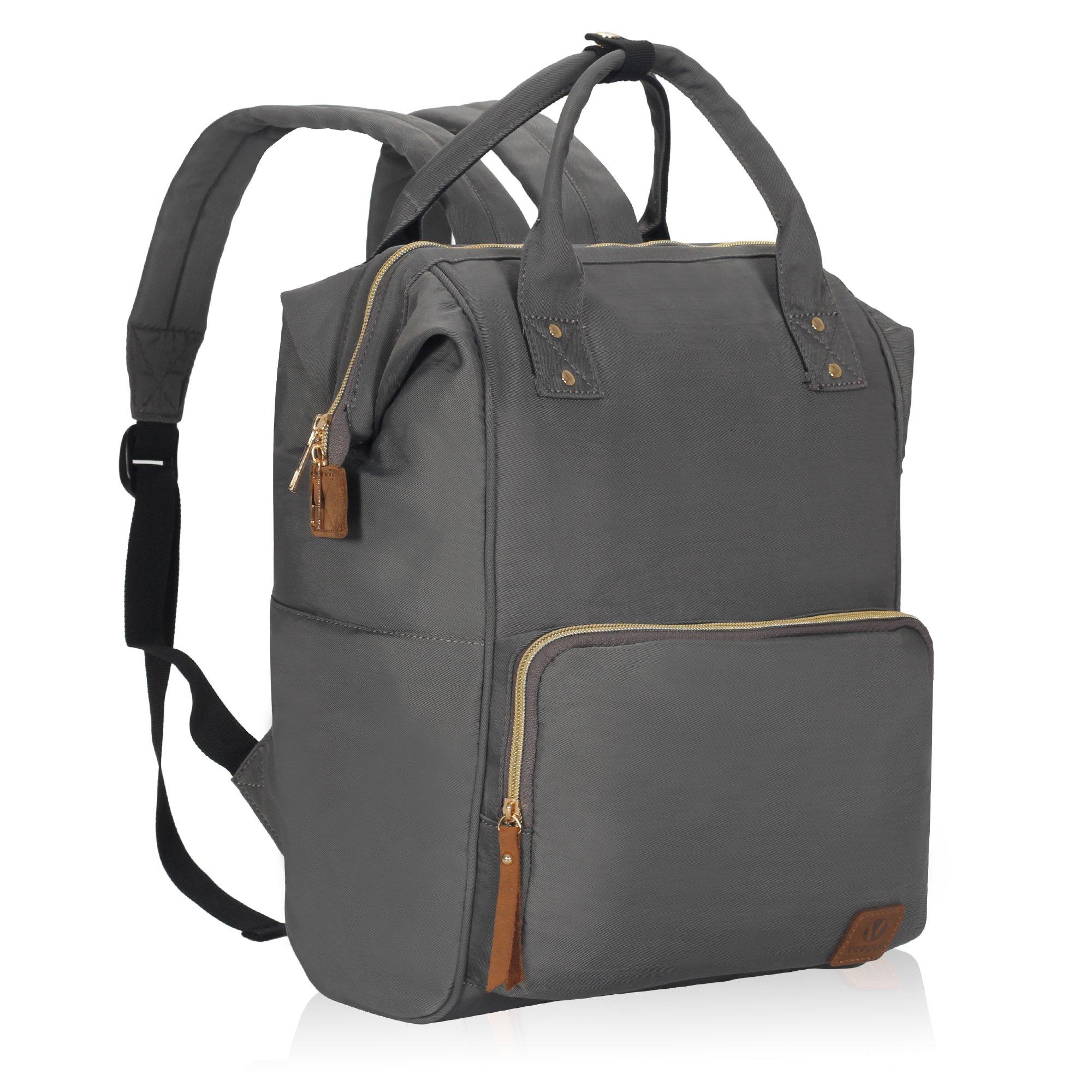 Veegul Wide Open Multipurpose School Backpack Lightweight Travel Bag 18L Grey