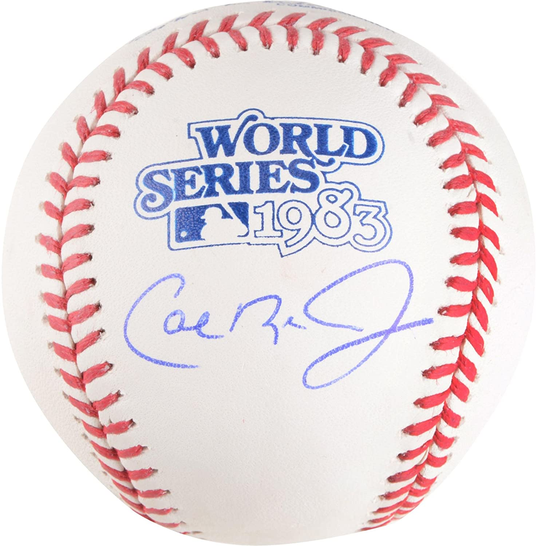 Fanatics Authentic Certified Baltimore Orioles Autographed 1983 World Series Logo Baseball Cal Ripken Jr