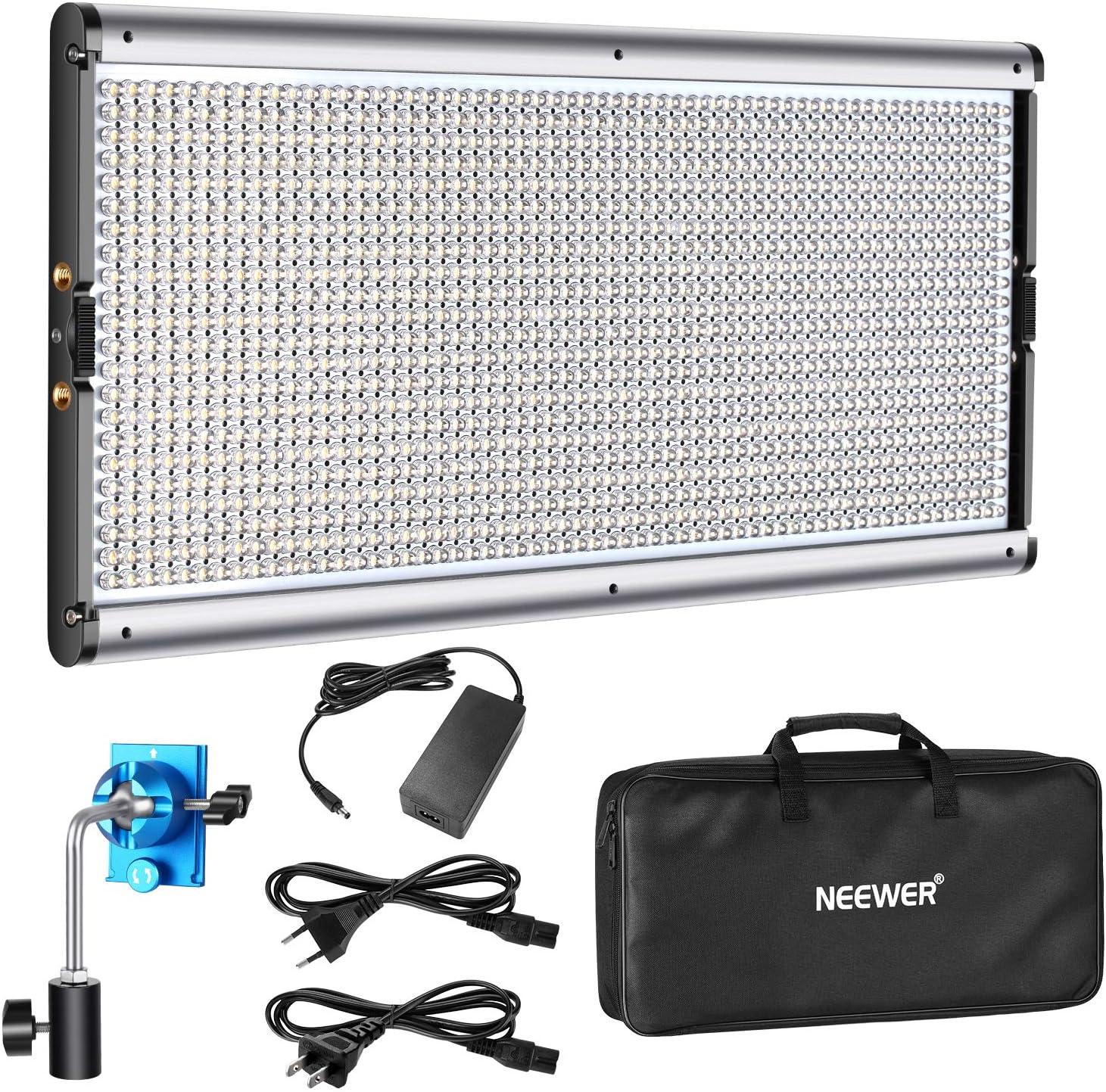 Luz de video 1320 LED regulable Neewer con marco de metal