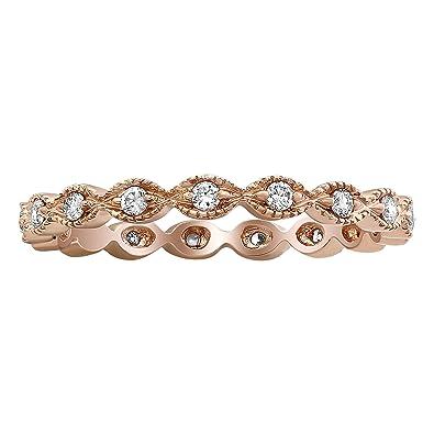 Responsible 10k Rose Gold Morganite Diamonds Women Milgrain Gemstone Jewellery Wedding Ring Gemstone