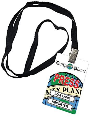 image regarding Clark Kent Press Pass Printable titled Lois Lane Day by day Globe Thrust P Novelty Identity Badge Prop Gown