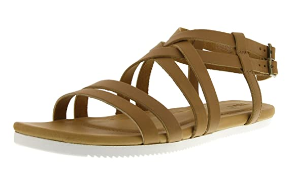 Teva Women's Avalina Crossover Leather Sandal, Tan, 10 M US