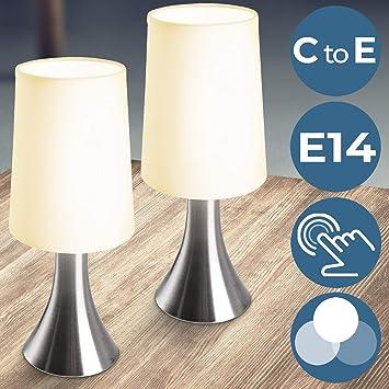 Lampe De Chevet Tactile 3 Intensités | E14, Avec Fonction Touch, Design |  éclairage