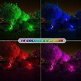 Onforu 4 Pack 20W RGB LED Flood Lights with