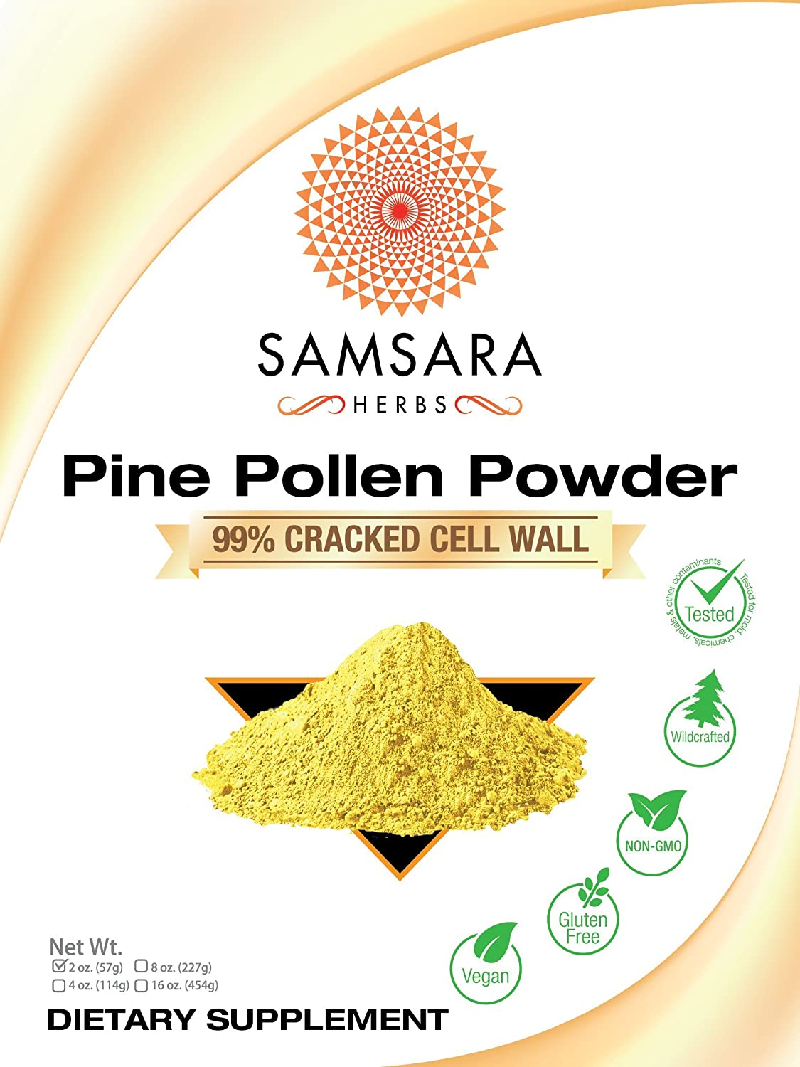 Amazon.com: Pine Pollen Powder Wild Harvested - 99% Cracked Cell ...