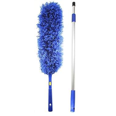 Jet Clean Microfiber Hand Duster-Feather Dust Appliances, Ceiling Fans, Blinds, Furniture, Shutters, Cars, Delicate Surfaces-Extension Pole Reach 25-44