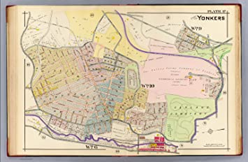 Amazoncom Map Poster 17 Yonkers 13 x 19 Posters Prints