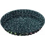 STONELINE 16075 Obstkuchen- und Quicheform, antihaft mit Prismaeffekt Backform, Karbonstahl, mehrfarbig, 28 x 2,9 cm