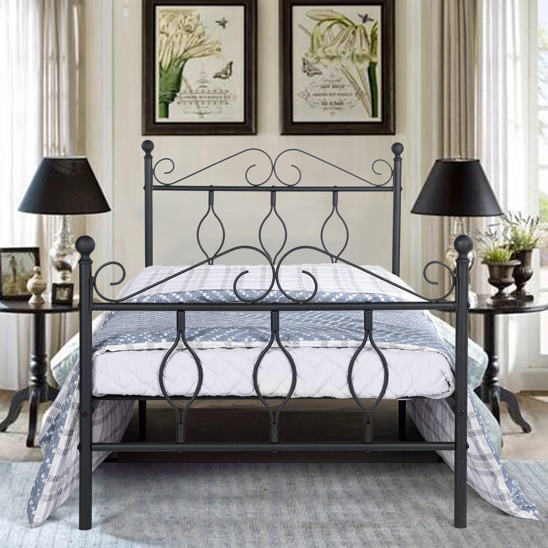 Blanc Aingoo Lit Enfants 90x190 cm Lit Simple en m/étal Design Cadre de lit avec sommier /à Lattes