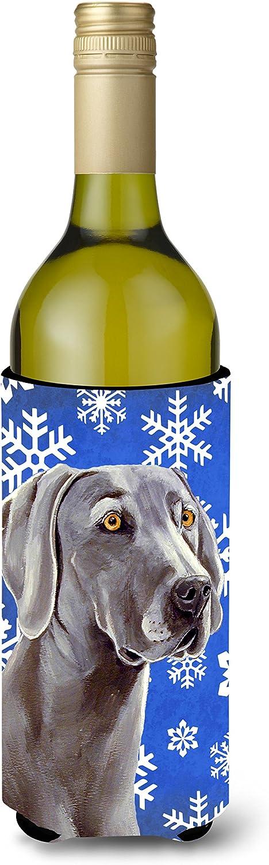 Caroline 's Treasures lh9296-parent Weimaraner Winter Snowflakes Holiday Ultra Beverage Insulators forスリム缶lh9296muk、、マルチカラー 750 mL LH9296LITERK