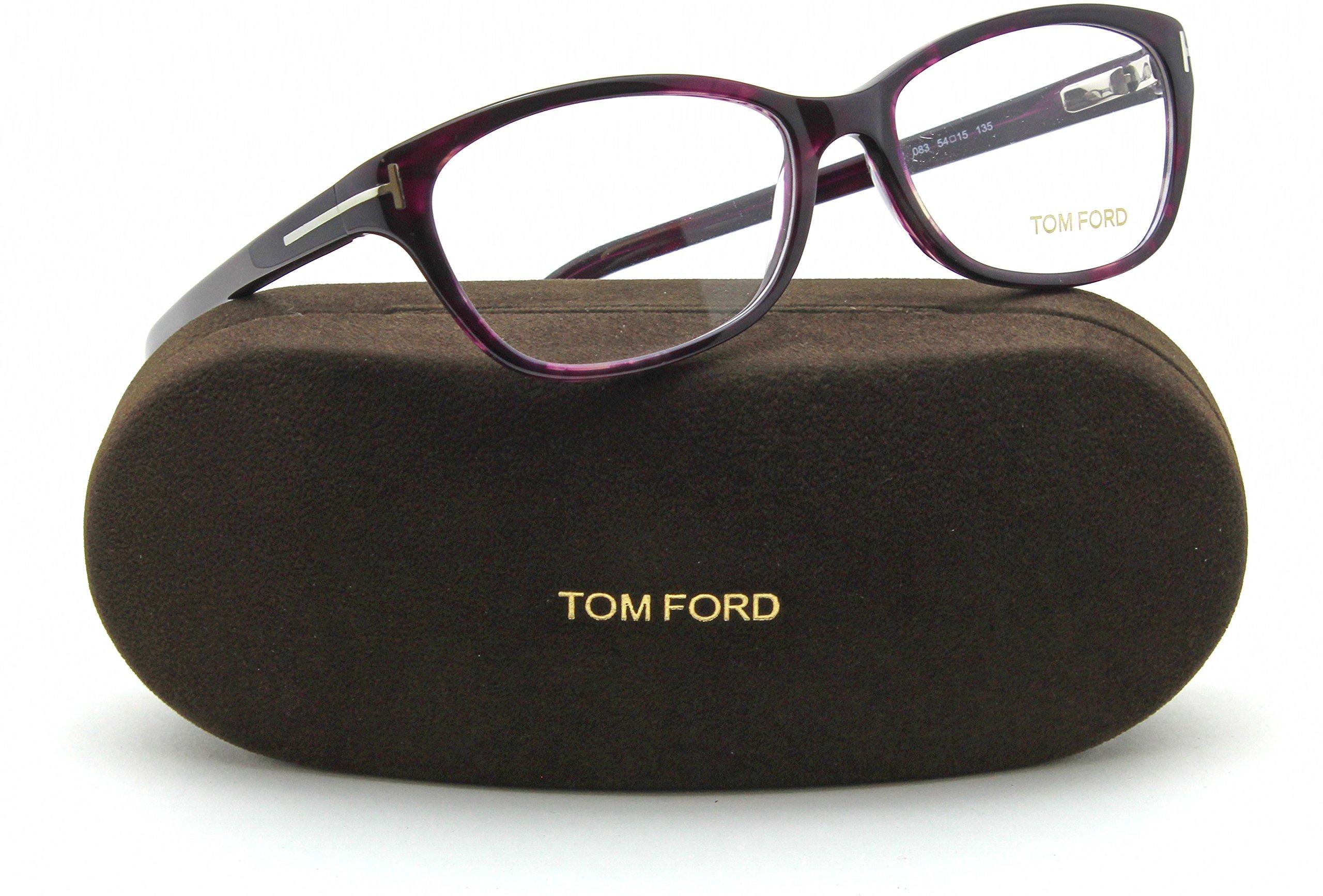 Tom Ford FT5398 Unisex Eyeglasses (Shiny Black Frame 001, 55)