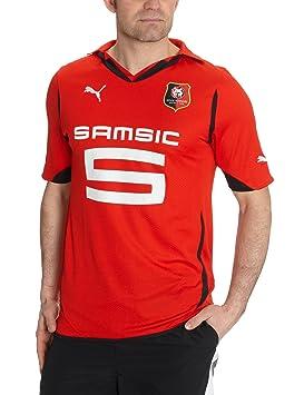 Puma Camiseta de fútbol para hombre (réplica de la equipación local del equipo SRFC de Rennes) rojo rojo/negro Talla:extra-large: Amazon.es: Deportes y aire ...