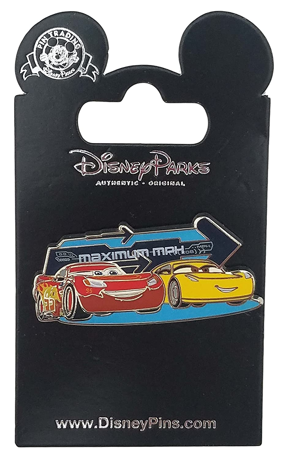 Disney Pin - Pixar Cars 3 - McQueen and Cruz Ramirez Maximum MPH