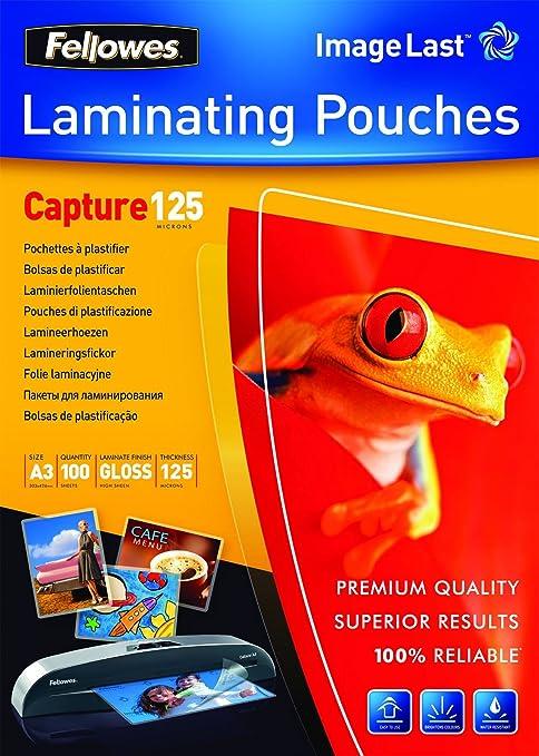 Amazon.com: PACK 100 FUNDAS PLASTIFICAR A3 125 MICRAS BRILLO ...