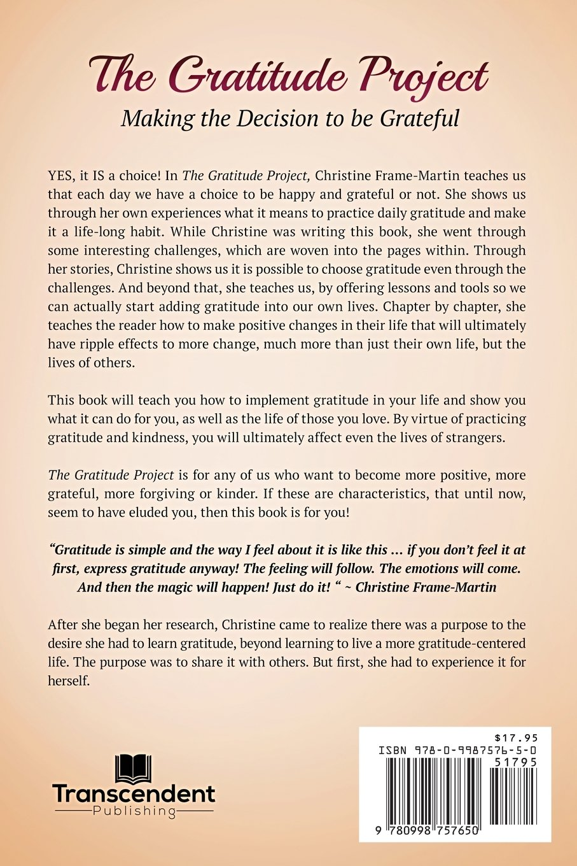 The Gratitude Project: Christine Frame-Martin: 9780998757650: Amazon ...