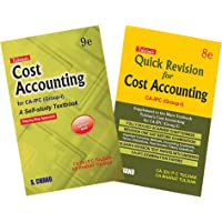 Cost Accounting for CA- IPC (Group-I) 9edition with Quick Revision 8 edition (Set of 2 Books)
