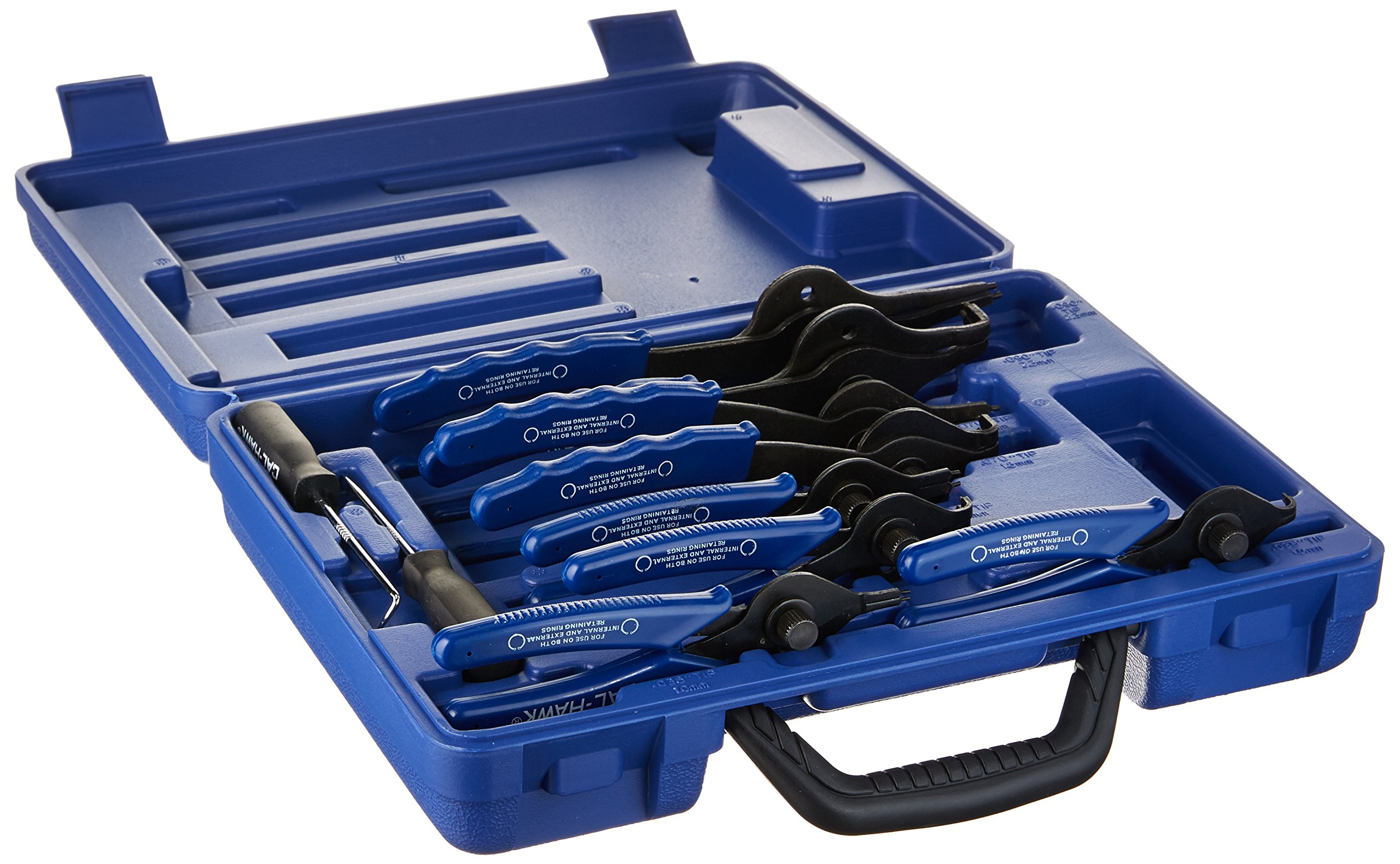 Cal Hawk Tools CPLSR11P Heavy Duty Snap Ring Pliers Set (11 Piece) by Cal Hawk Tools