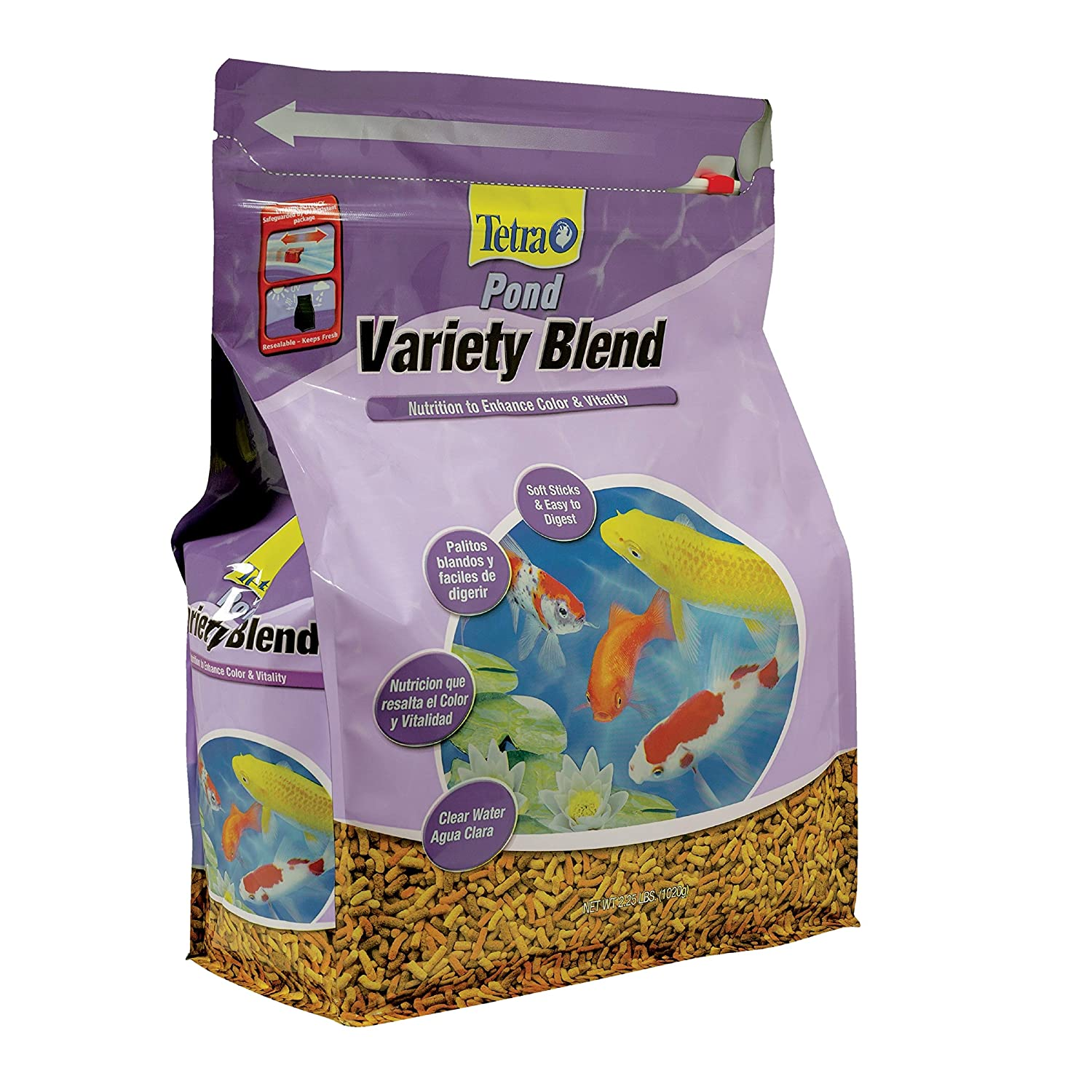 TetraPond Variety Blend Fish Food to Enhance Color and Vitality