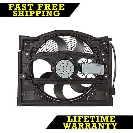 Amazon.com: AC A/C CONDENSER COOLING FAN FOR BMW FITS 320 323 325 328 330 E46 BM3020100: Automotive