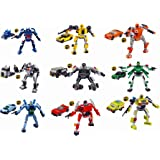 xipoo building blocks for boys Transformers Building Blocks, 9 Robots and Vehicles Play Set, 737 Pieces, 6 Years and Up