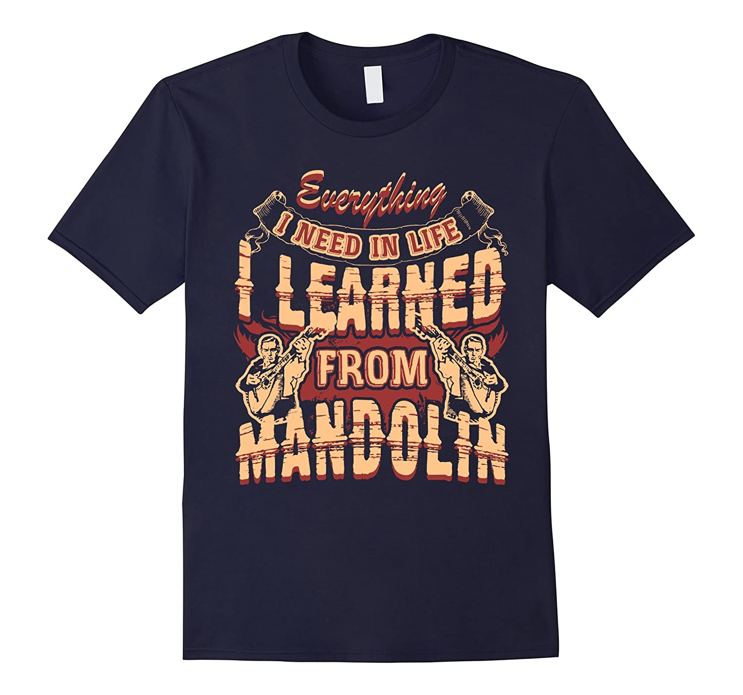 Mandolin Shirt - Learned From Mandolin Tshirt-Vaci