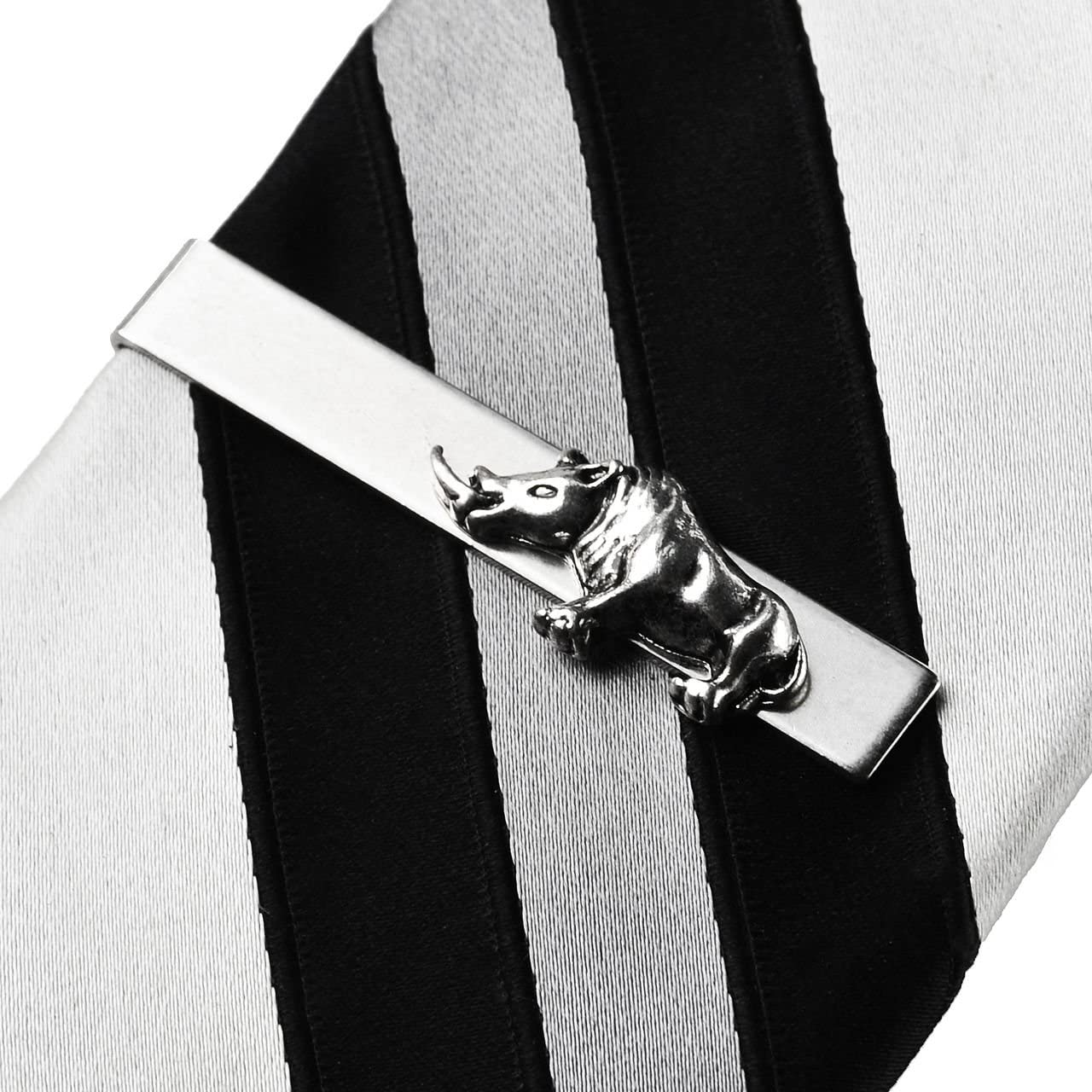 Quality Handcrafts Guaranteed Rhino Tie Clip