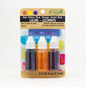 Life of the Party Red, Yellow, BlueLiquid Colors,3 Pack,53001