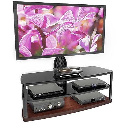 Amazon Com Sonax B 193 Dbt Bandon 52 Inch Wood Veneer Tv Stand With