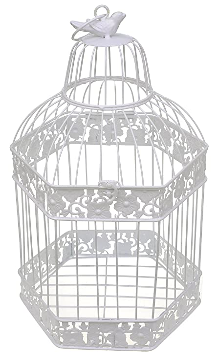 Cuadrado decorativo de flores de jaula de pájaros mesa centro de ...