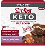 SlimFast Keto Fat Bomb Snacks, Chocolate Caramel Nut Clusters, 20g, 14 Count